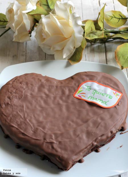 Tarta doble chocolate para el Día de la Madre