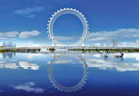 Bailang River Bridge Ferris Wheel Designboom 05 18 2017 818 009