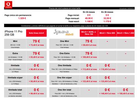 Precios Iphone 11 Pro 256 Gb Con Tarifas Vodafone