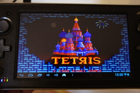 Tetris funcionando perfectamente en la consola