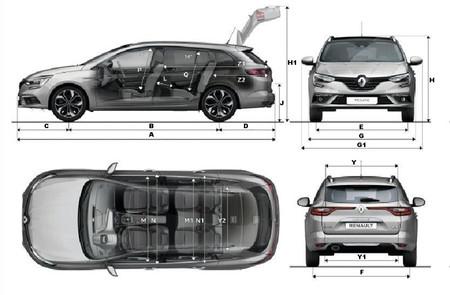 Renault Megane Sport Tourer Dimensiones