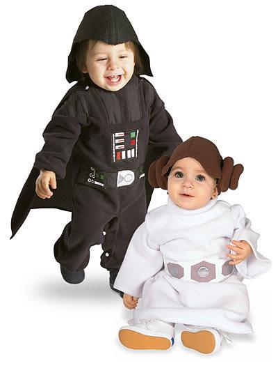 Disfraces de Darth Vader y Princesa Leia
