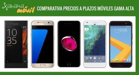 iPhone 7, Galaxy S7, Sony Xperia XZ, Huawei P9, LG G5 y otros gama alta: comparativa precios a plazos con operadores