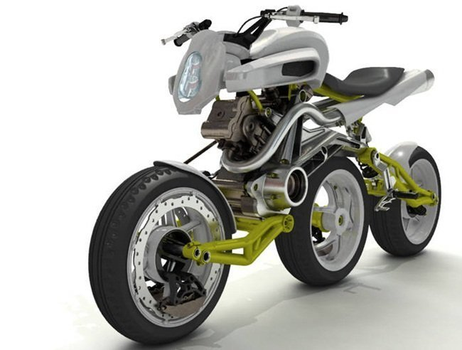 A3W, la moto de tres ruedas