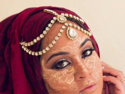 El contouring se complica con la técnica de la henna