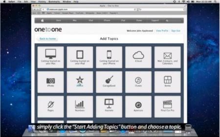 Así luce la nueva web para la formación One to One de las Apple Store