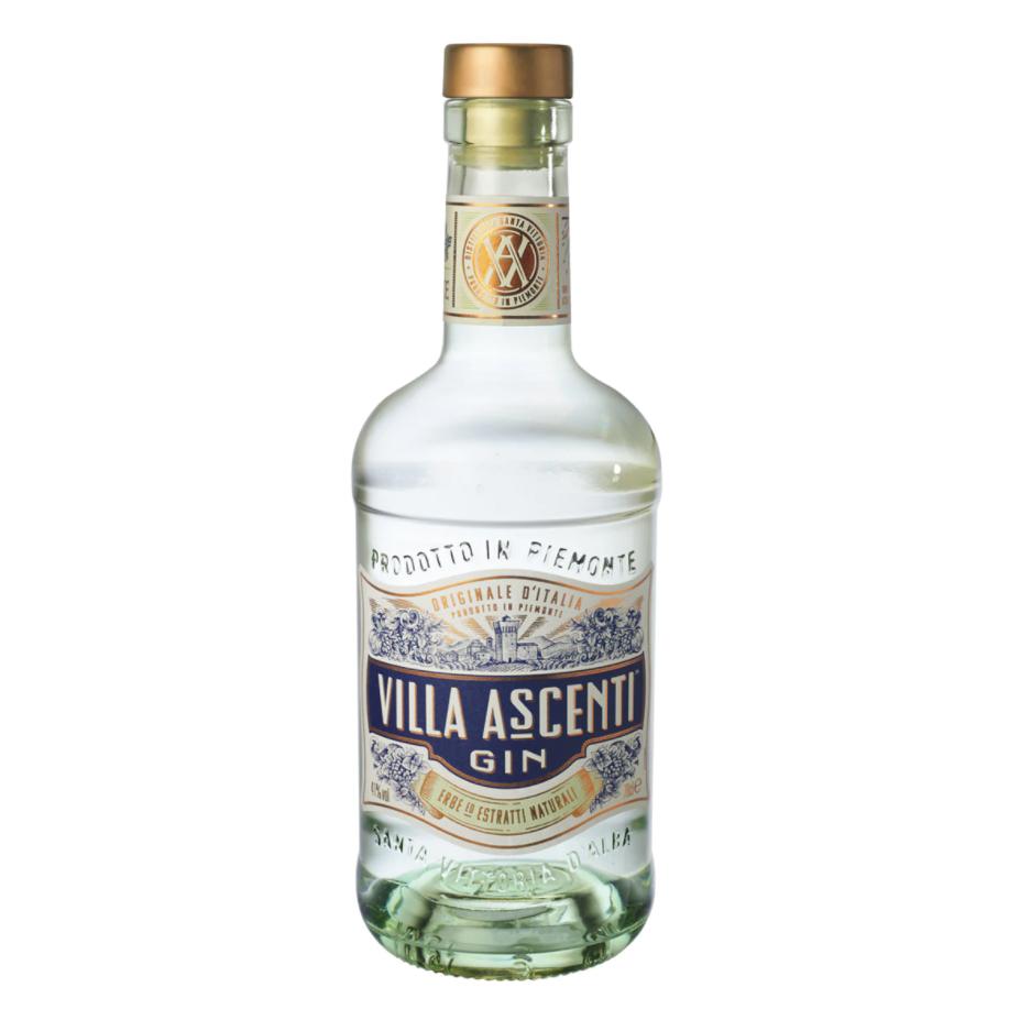 Ginebra italiana premium Villa Ascenti. Villa Ascenti es una ginebra italiana elaborada con ingredientes exclusivos de las colinas del Piamonte.