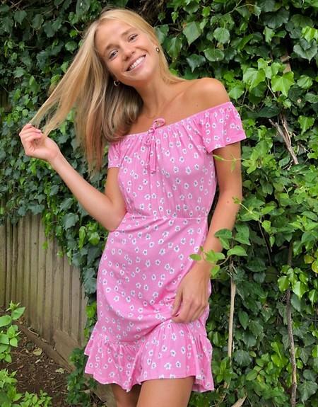 Vestido Escote Bardot Low Cost 10