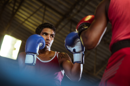 Boxeador-zurdo