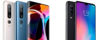 Del Xiaomi Mi 9 a los Xiaomi Mi 10, todo lo que ha cambiado