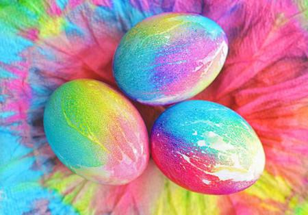Tie Dye Decorar Huevos Con Tie Dye