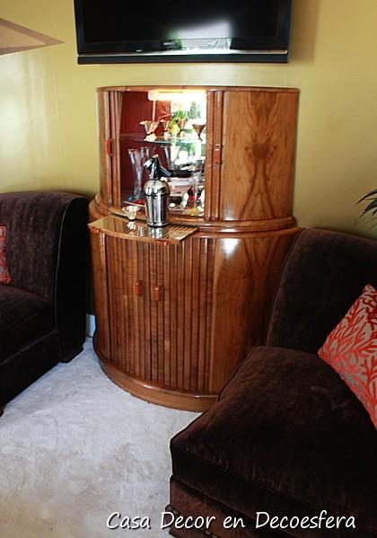 Detalle del mueble bar