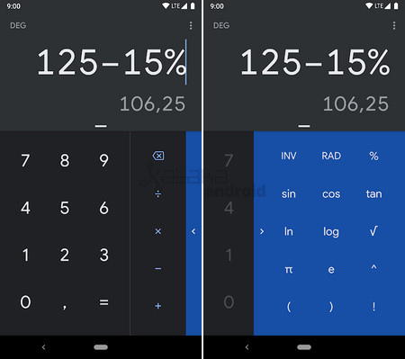 Calculator Theme Dark 2