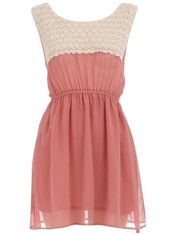 vestido dorothy perkins coral