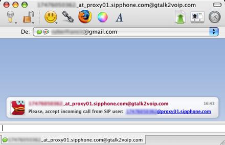 Aceptar llamada de usuario SIP