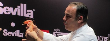 Ángel León arrasa en Madrid Fusión con sus crustáceos de cáscara comestible y su morena-cochinillo