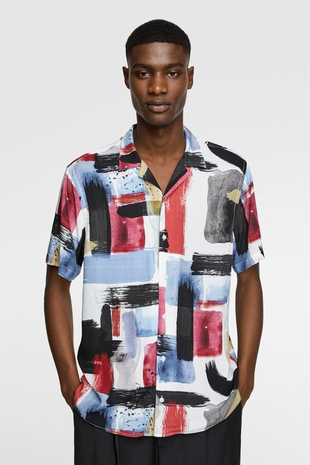 Camisa De Estampado Abstracto Zara Trendencias Hombre 2019 Verano Primavera Spring Summer
