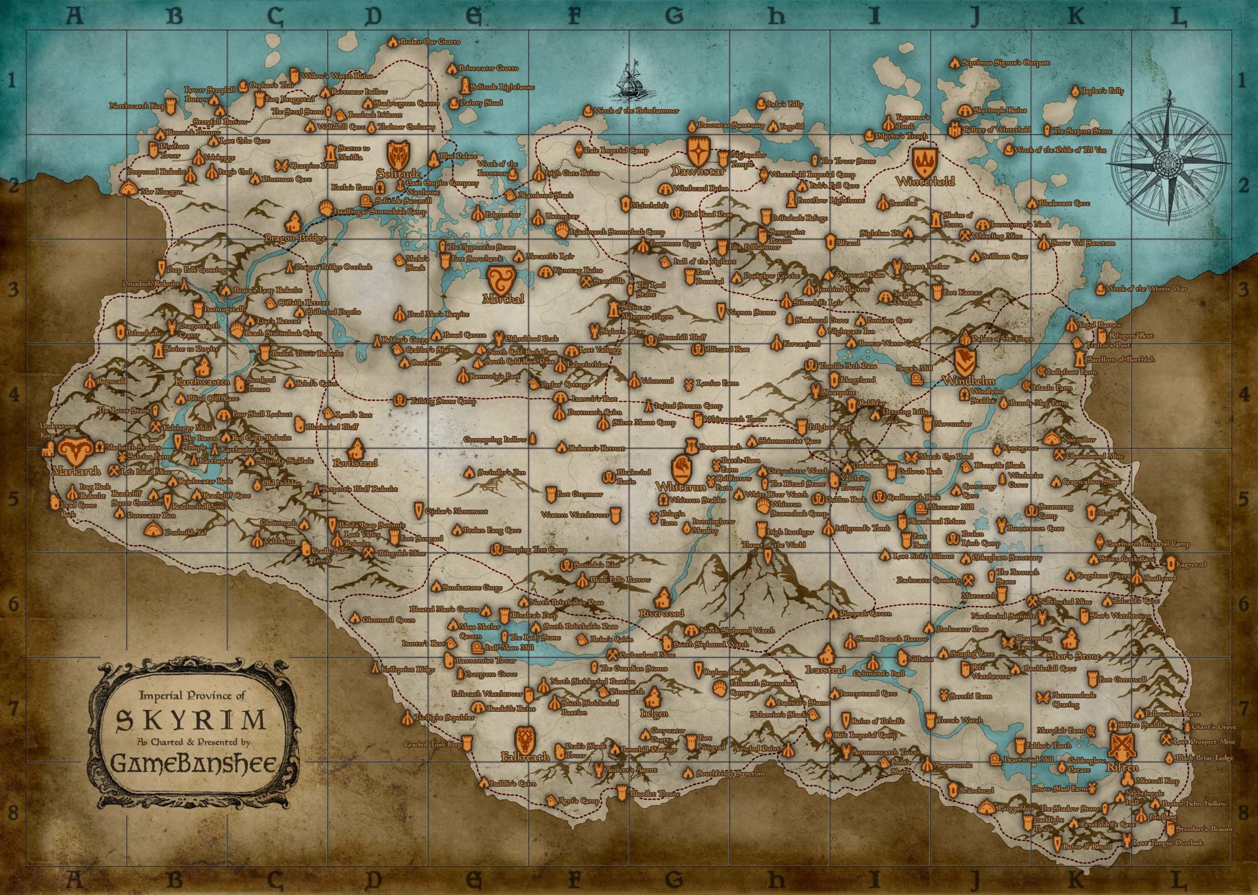 Foto de Mapa de Skyrim (1/1)