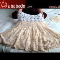 Cómo hacer una falda con el tapete de la abuela
