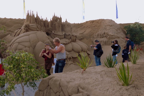 El Belén de arena de la Playa de Las Canteras en Gran Canaria, una atracción para no perderse