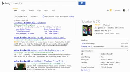 Bing mejora su búsqueda de productos mostrando reseñas, noticias y especificaciones en un vistazo