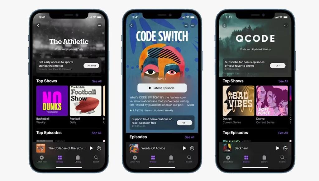 Las suscripciones llegan a Apple Podcasts