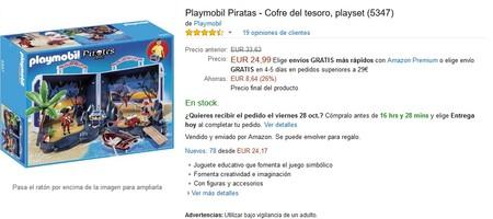 Cofre Del Tesoro Pirata De Playmobil Amazon