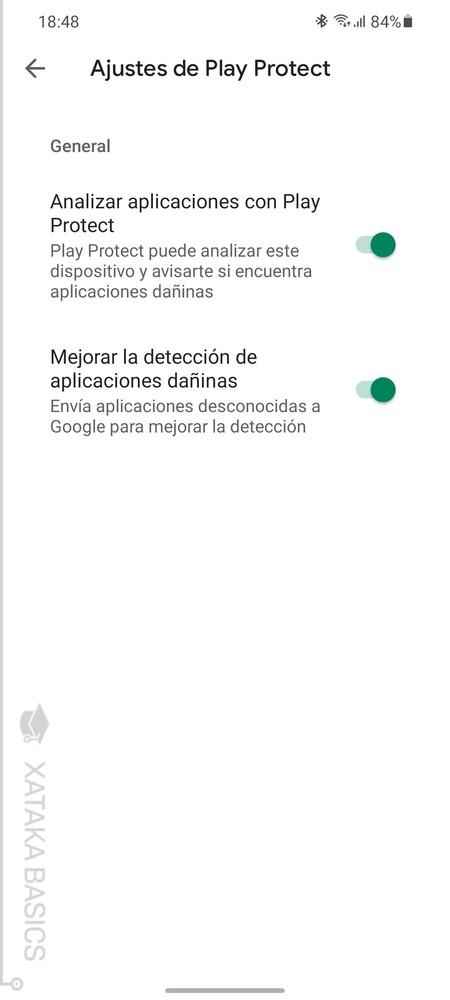 Opciones Google Play