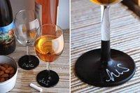 Copas de vino con base de pizarra