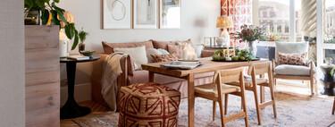 Casa Decor 2021; el espacio de La Redoute es un práctico y vivible salón de 20 m2 que cuenta con comedor y espacio para teletrabajar