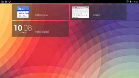 Widget asociados en la pantalla de desbloqueo