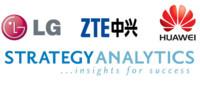 Huawei, ZTE y LG luchan por el tercer puesto, según Strategy Analytics