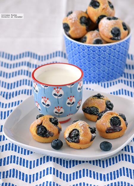 Mini Muffins De Arandanos Y Limon
