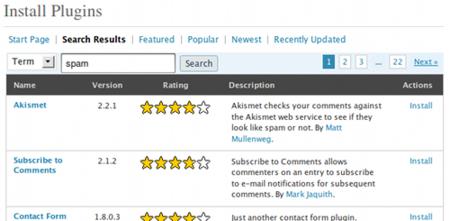Wordpress 2.7 - Plugins