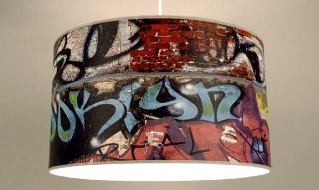 L mparas con graffitis dibujados - Habitaciones con graffitis ...
