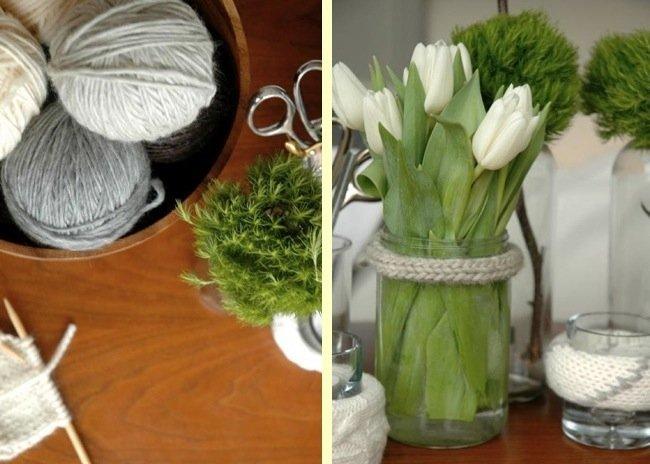 Hazlo t mismo decora con lana viejos frascos de cristal - Decora tu casa tu mismo ...