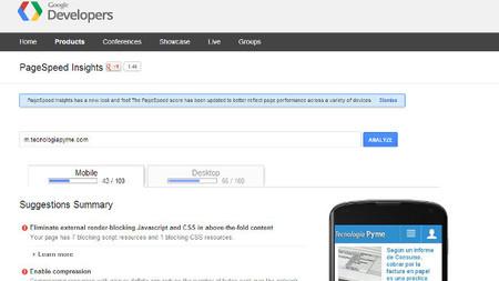 Google actualiza su página para medir la velocidad de carga de la web