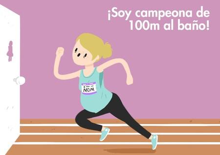 ¿Eres campeona de 100 metros al baño? Por qué necesitas orinar con frecuencia cuando estás embarazada