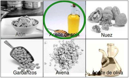 Solución a la adivinanza: el alimento con más omega 3 es el aceite de soja