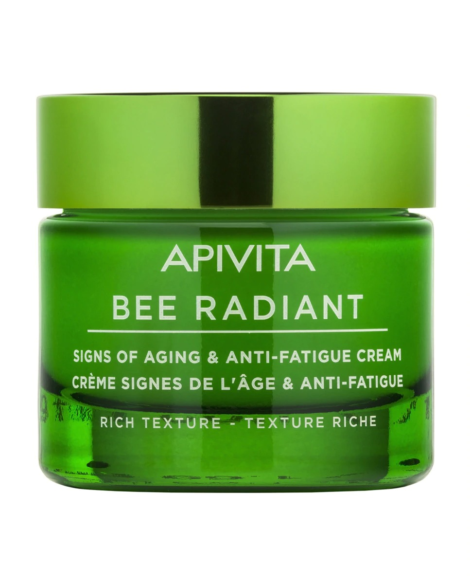 Crema Bee Radiant 50 ml Apivita textura rica
