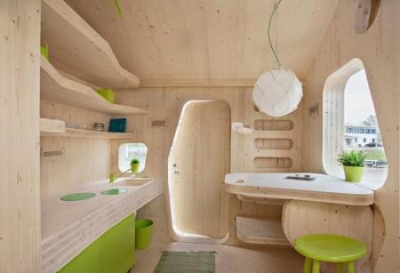 Casas poco convencionales: pequeñas viviendas de madera para estudiantes
