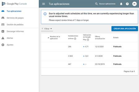 Google tardará una semana o más en revisar las apps subidas a Google Play por el coronavirus