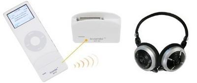 iCombi nano, juego de auriculares inalámbricos y emisor