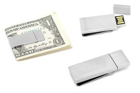 Clip para billetes con USB