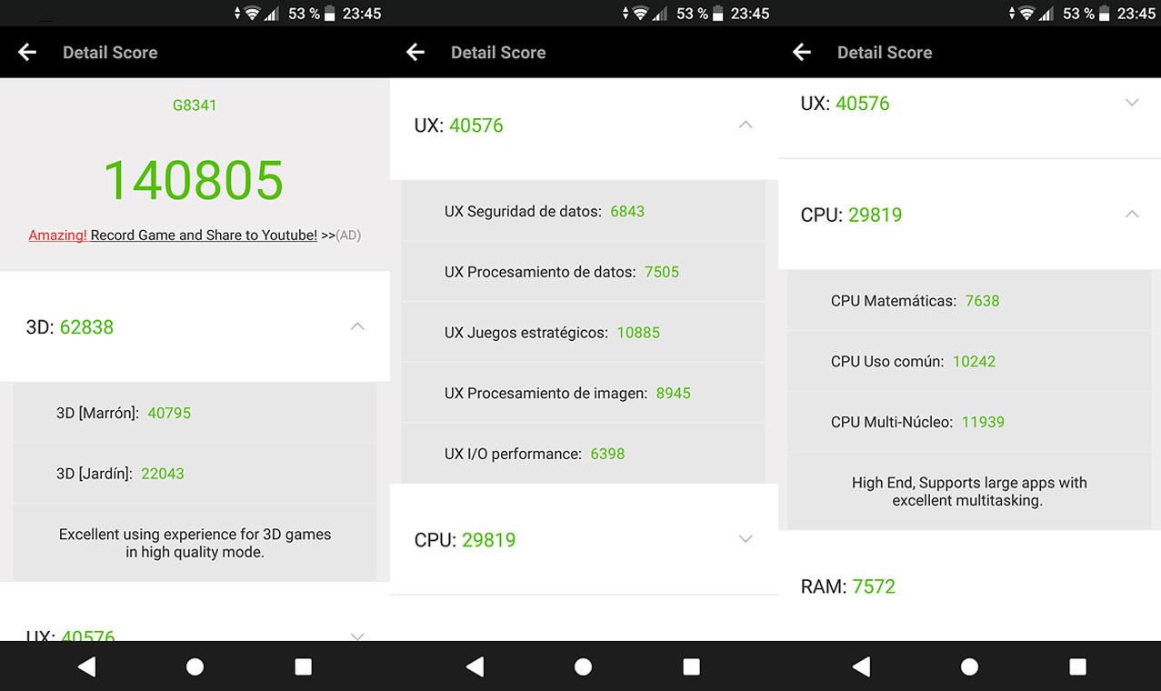 Foto de Sony Xperia XZ1, benchmarks (2/7)