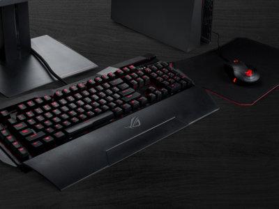 ASUS ROG Horus GK2000, es un teclado mecánico con un agresivo diseño