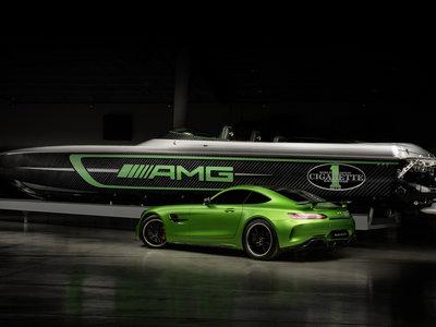Cigarette Racing Team 50' Marauder AMG, una brutal lancha inspirada en el Mercedes-AMG GT R
