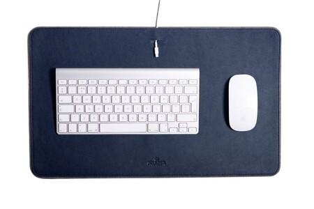 Leather Desk Mat Mf Navy 1