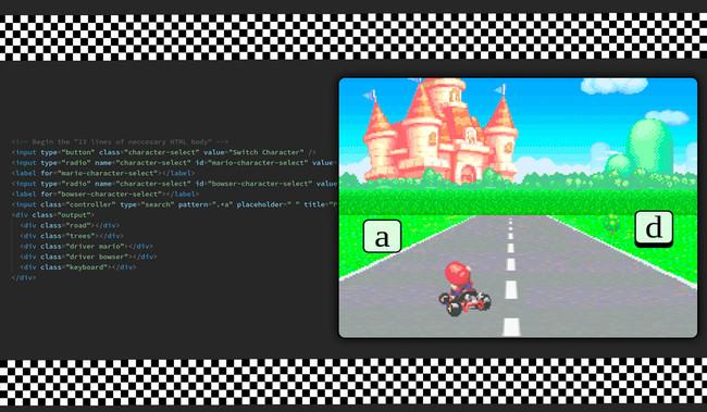 Un programador es capaz de dar vida a un clon de Mario Kart en CSS