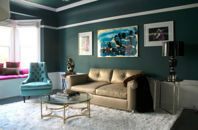 Salón en azul